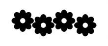 flower power vélosight™ reflective bicycle decals catalogue view