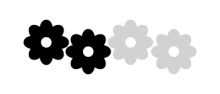 flower power vélosight™ reflective bike decals 2 color set